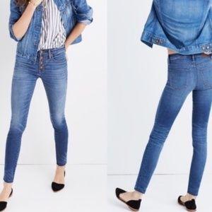 """Madewell 9"""" High-Rise Skinny Skinny Jeans"""